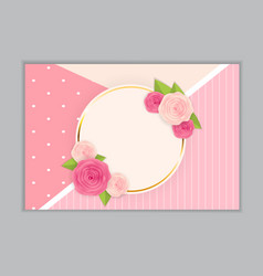 greeting card blank template vector image