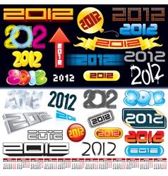 2012 logos vector image