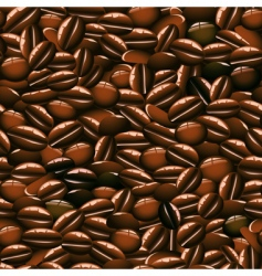 Coffee beans seamless pattern vector