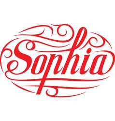 Sophia floral name vector