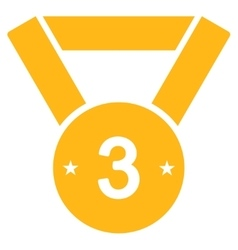 Third medal icon from competition  success vector