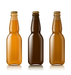 Templates realistic bottles vector
