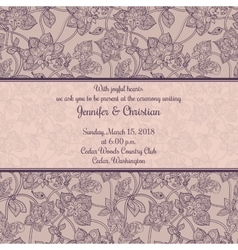 Vintage wedding invitation in romantic style vector