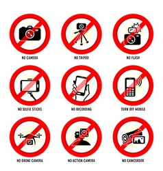 No media signs vector image