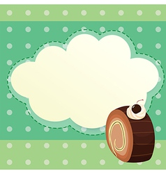 An empty stationery template with a choco roll vector