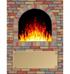 antique fire place vector image