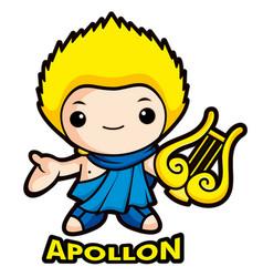 Apollo mascot the god of the sun olympus god vector