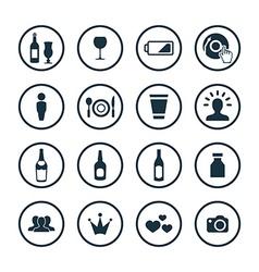 bar icons universal set vector image vector image