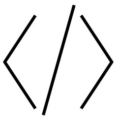 Brackets code coding development html icon vector