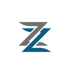 business corporate z letter logo vector image