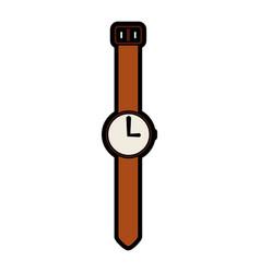 Cute vintage watch cartoon vector