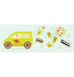 delivery food Graphic design for vector image