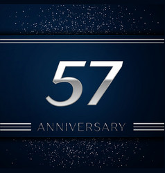 fifty seven years anniversary celebration logotype vector image