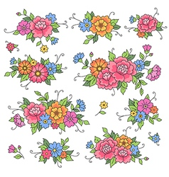floral design roses vector image vector image