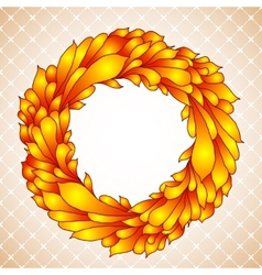 Floral wreath of yellow autumn leaves vector image vector image