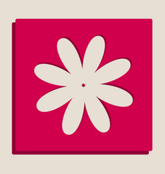 Flower sign grayscale vector