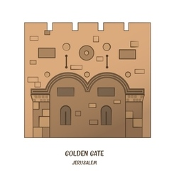 Golden gate in jerusalem vector