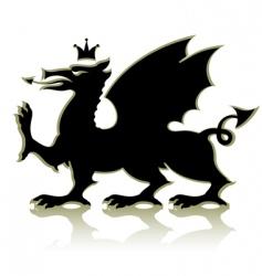 Heraldic dragon vector