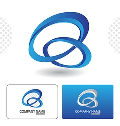 Icon Design with Business Card Template vector image vector image