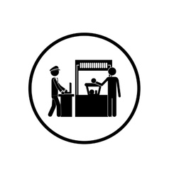Isolated pictogram passenger design vector