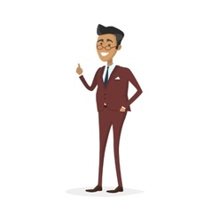 Man Character in Business Suit vector image vector image
