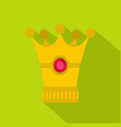 Medieval crown icon flat style vector