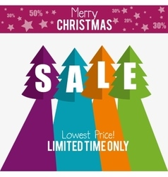 Merry christmas sale limited time only vector