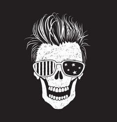 Modern american skull like a usa flag vector