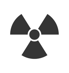 nuclear sign radiation vector image