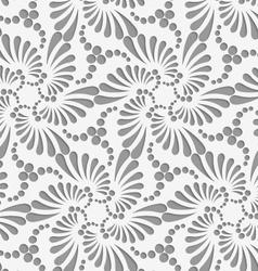 Perforated flourish tear drops six foils and dots vector