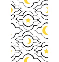 Ramadan kareem greeting seamless pattern vector