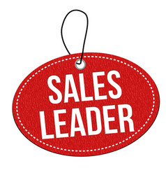 sales leader label or price tag vector image
