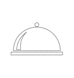 server sign black dotted vector image