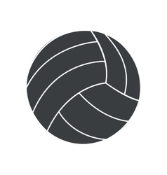 Silhouette ball volleyball sport icon vector