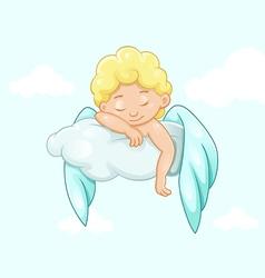Sleeping angel on a cloud vector
