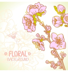 spring floral vector image vector image