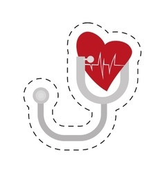 Stethoscope instrument heart examination vector