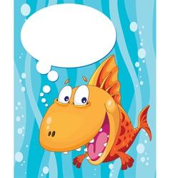 talking fish vector image vector image