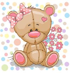 teddy bear girl vector image