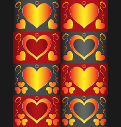 template with a heart-shaped area for text that vector image