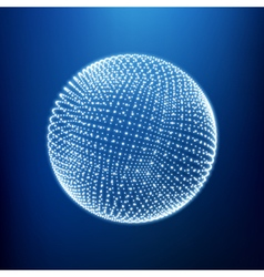 The sphere consisting of points 3d glowing grid vector