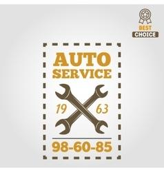 Vintage mechanic labels emblems and logo vector