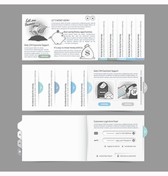 Website design menu navigation vector image vector image