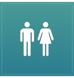 Man and woman icons toilet sign restroom icon vector