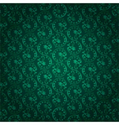 Green vintage floral seamless pattern vector image