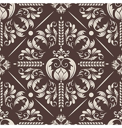 Vintage damask seamless pattern element vector