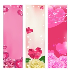 Set of love banners elements for design vector