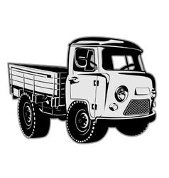 Cartoon delivery cargo pickup vector image