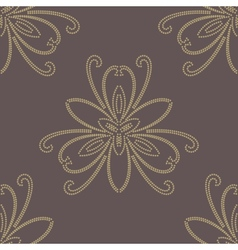 Floral golden seamless pattern orient abstract vector