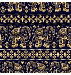 Ethnic elephant seamless vector image
